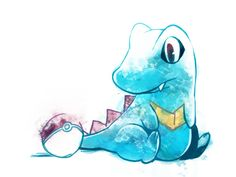 Totodile. Don't forget to like this Pokemon Facebook page for more cool Pokemon content: http://www.facebook.com/shinydragonairx