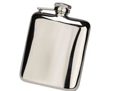 NEW Steel Cushion Hip Flask - This well made highly polished steel cushion shaped hip flask has a fantastic capture top and is a great companion for an event you wish to bring your hip flask too.