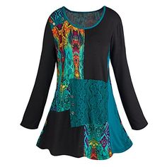 Women's Abstract Art Tunic Top - 3/4 Length Sleeves - 3X http://www.amazon.com/dp/B014E9GZ7O/ref=cm_sw_r_pi_dp_Z.Thxb0WTCQ41