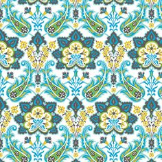 Turkish Delight, Delight Blue, by Josephine Kimberling, from blend fabrics, 1 yd on Etsy, $11.00