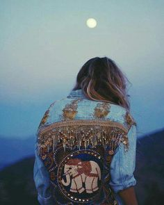 denim jacket embroidery : yes please