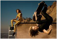 Shawn White and Daria Werbowy april 2008-Annie Leibovitz Photograph
