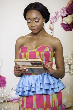 Modern Ghanaian Wedding Inspiration - Kente Bride