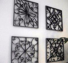 Iron wall art ideas