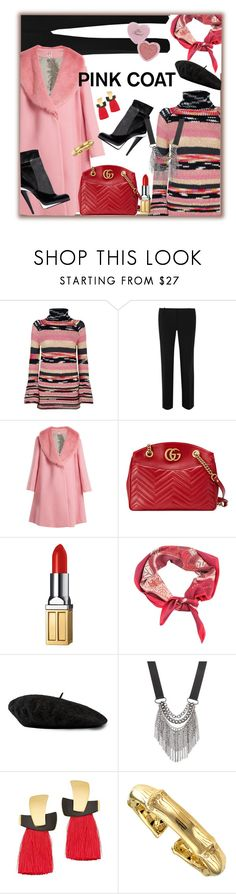 """Pink Coat, Dec. 4 2017"" by franceseattle ❤ liked on Polyvore featuring Missoni, Emilio Pucci, Shrimps, Chanel, Gucci, Elizabeth Arden, Hermès, Too Faced Cosmetics, Simply Vera and Lizzie Fortunato"