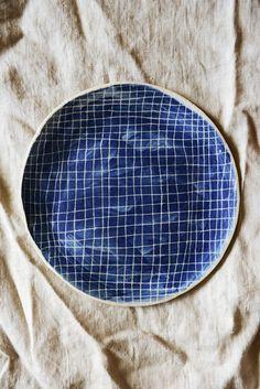 Handmade ceramic plate by Lauren Bamford.