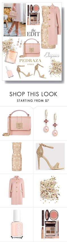 """""""Blushing"""" by thefabulousfashionblog ❤ liked on Polyvore featuring Saks Fifth Avenue, Adrianna Papell, RED Valentino, Topshop, Charlotte Tilbury and chic"""