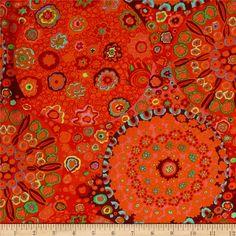 RED Cotton Quilting Fabrics 1//2 Yard Kaffe Fassett Rolled Paper