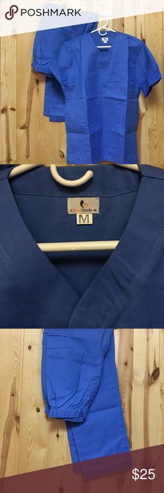 Heart ❤️Uniform Scrub Set Medium Top Medium Reg Heart ❤️Uniform Scrub Set Medium Top Medium Regular Pant New Blue Unisex Two front pockets on Top Pant has two side pockets and one back pocket Price is Firm Heart Uniform Other