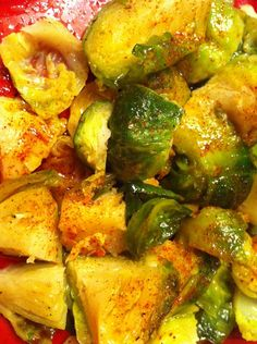 Barcelona Brussel Sprouts: using vinegar instead of salt makes the recipe low-sodium