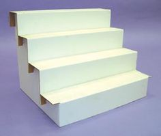 collapsible cardboard risers for display at craft shows. Come in other sizes from Gershelbros.com