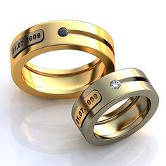 Обручальные кольца с давтой свадьбы