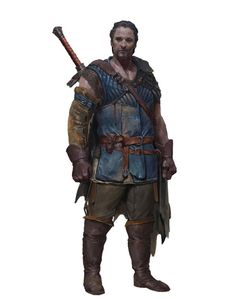 m npc Riverboat Merchant Light Armor Greatsword male River Docks urban City Farmland lg Dungeons And Dragons Characters, Dnd Characters, Fantasy Characters, Fantasy Armor, Medieval Fantasy, Dark Fantasy, Game Character, Character Concept, Concept Art