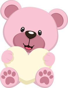 Photo by - Minus Diy And Crafts, Crafts For Kids, Arts And Crafts, Scrapbook Bebe, Baby Clip Art, Cute Clipart, Felt Baby, Tatty Teddy, Teddy Bear