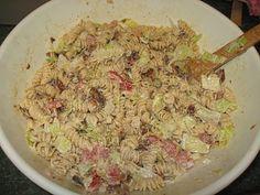 Debbi Does Dinner... Healthy & Low Calorie: Bacon, Lettuce, Tomato Pasta Salad