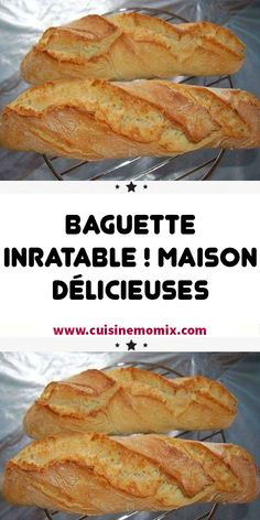 delicious house - This bread baguette recipe that I find fantastic, The bread baguettes are crispy at will, like at t - Cooking Chef, Cooking Recipes, 30 Minute Meals, Meals For One, Brunch, Food And Drink, Tasty, Nutrition, Breakfast
