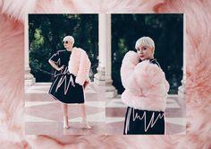 #influencer #blogger #streetstyle #pixie #pixiehair #pixiehaircut #fur #pastel #pastelpink #illustration #editorial #sunglasses #cateye #meyeresztervirag #esztervirag #design Influencer Blogger, Pixie Haircut, Ice Cream, Heart, Illustration, Design, Pixie Buzz Cut, No Churn Ice Cream, Pixie Cut