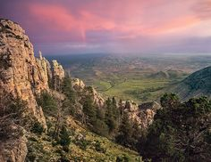 A bird's-eye view from Hunter Peak at Guadalupe Mountains National Park. (Photo © Laurence Parent)