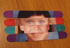 Here's a link for instructions to make puzzles from a photo and craft sticks. Now, here's the twist I came up with: I used Photoshop to make all the photos the same size, so wh… Stick Photo, Craft Stick Crafts, Craft Sticks, Popsicle Sticks, Popsicles, Kids Playing, Photo Puzzle, Puzzles, Photoshop