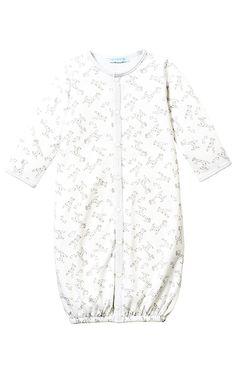 Le Top Baby 'Baby Giraffe' Grey Gown w/Mitten Cuff