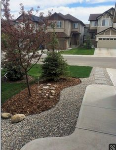 Driveway Landscaping, Landscaping With Rocks, Outdoor Landscaping, Backyard Landscaping, Inexpensive Landscaping, Front Landscaping Ideas, Driveway Edging, Backyard Designs, Front Yard Flowers