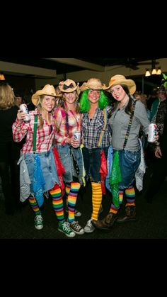 Rodeo Clowns! Cowgirl Halloween Costume, Clown Costume Women, Dino Costume, Clown Halloween Costumes, Couple Halloween Costumes For Adults, Costumes For Teens, Toddler Costumes, Halloween Dress, Halloween Pranks