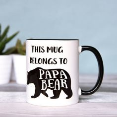 The Best Of Me Designs Papa Bear, Father's And Dad's Mug (£11) ❤ liked on Polyvore featuring home, kitchen & dining, drinkware, bear mug and quote mugs