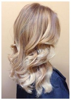 subtle blonde ombre