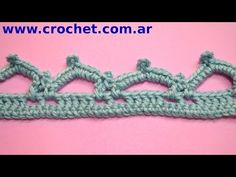 Puntilla N° 53 en tejido crochet tutorial paso a paso. - YouTube