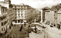 Piazza Barberini at the end of 19th century. Come see it now #trevifountaingh