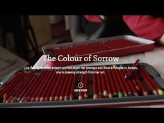 Jordan: The Colour of Sorrow - Lina fled Syria when snipers gunned down her teenage son Yaser. Now a #refugee in #Jordan, she is drawing strength from her art.