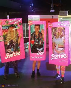 Every year our company host a Halloween Party so we decided we would do a theme; Not just any Barbies - but Limited Edition Barbies! Barbie Halloween, Halloween Costume Contest, Funny Halloween Costumes, Vintage Halloween, Halloween Makeup, Costume Ideas, Halloween Party, Costume Works, Doll Costume