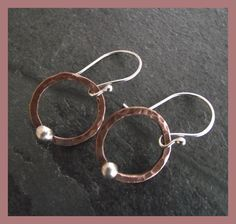 Sterling Silver and Copper Circle earrings £11.50