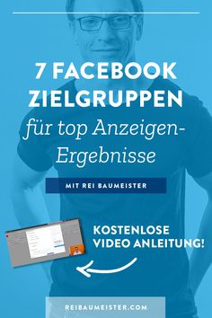 Diese Woche in meinem Facebook Marketing Tutorial auf Deutsch: Erfahre, wie du 7 attraktive Zielgruppen für deine Facebook Werbung erstellst, warum es Sinn macht, Kundendaten auf Facebook hochzuladen und wie die optimale Segmentierung von Website Traffic aussieht. Jetzt klicken und sofort mit verbesserten Facebook Ads durchstarten. #ReiBaumeister #facebookmarketing #facebookmarketingtipps #facebookwerbung #facebookaudience #facebooktargeting Facebook Marketing Tools, Marketing Trends, Social Media Marketing, Marketing Goals, Social Media Trends, Social Networks, Advertising Research, Video Advertising, Business Coach
