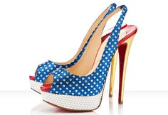 4th of July Heels     Weddings By Michelle  @OBrian Tallent these almost look like wonder woman!!!!!