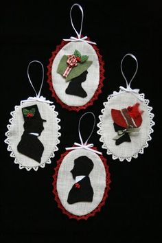 Regency Silhouette Christmas Ornament Tutorial
