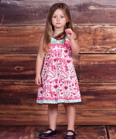 Pink Pugs & Kisses Coley Dress - Infant, Toddler & Girls by Jelly the Pug #zulily #zulilyfinds