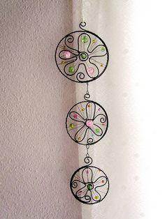 Dekorácie - 3 kvetové mandalky* 29 cm - 6720388_