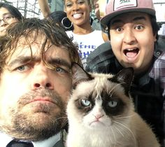 Dinklage and Grumpy cat