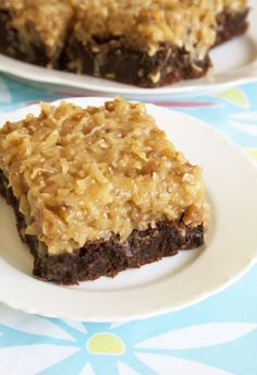 The yummiest German Chocolate Brownies I ever saw!
