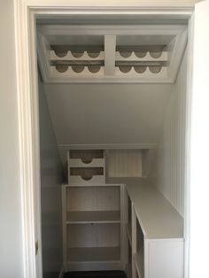Under stairs pantry conversion Under stairs pantry conversion, Under Stairs Cupboard Storage, Shelves Under Stairs, Closet Under Stairs, Staircase Storage, Under Stairs Pantry Ideas, Stairs In Kitchen, Architecture Restaurant, Restaurant Design, Pantry Shelving