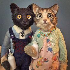Art and Oddities Creepy Toys, Candy Art, Art Textile, Textile Artists, Cat Doll, Little Doll, Soft Sculpture, Sculptures, Musical