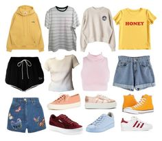 """""""Build an outfit"""" by sunsetsandflowers on Polyvore featuring AMI, Off-White, MIEL, Valentino, Superga, rag & bone, Converse, Puma and adidas"""