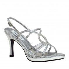 LOGAN-380 Women Rhinestones High Heels - Silver