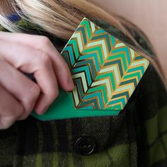 Never lose another thought. Slip the Green Chevron Notepad in your pocket to jot down all your brilliant ideas.