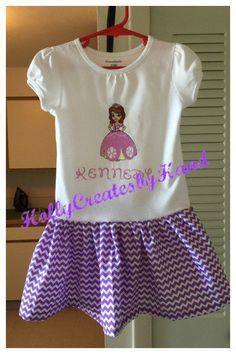 Sofia the First Princess outfit Birthday by HollyCreatesbyHand