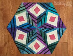 Kristy's Peacock Feathers Block