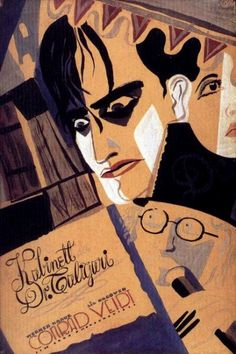 "Poster for ""The Cabinet of Dr. Caligari"" - one of the first and greatest German Expressionist films"