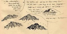 Ray's title card designs for KANCHENJUNGA