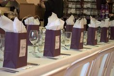 Goody Bags for the guests.